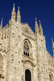 Facade of Milan cathedral Royalty Free Stock Image