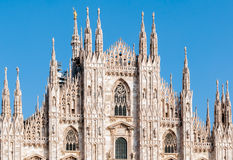 Facade of the Milan Cathedral Royalty Free Stock Photos