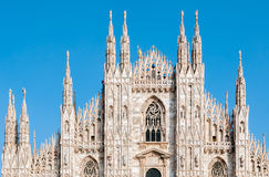 Facade of the Milan Cathedral Royalty Free Stock Photo
