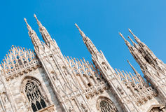Facade of the Milan Cathedral Stock Photos