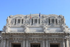 Facade of Milan central station Stock Photography