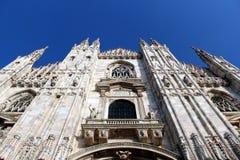 Facade of Milano cathedral Duomo. Perspective view of the facade of Milano cathedral Duomo Stock Image