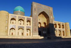Facade Miri Arab in Bukhara Royalty Free Stock Image