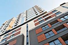 Facade of a modern apartment building stock photo