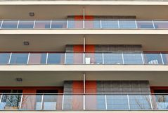 Facade of a modern apartment building Royalty Free Stock Image