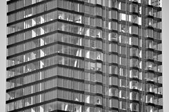 Facade of a modern apartment building. Black and white. Modern, Luxury Apartment Building. Modern facade royalty free stock photos