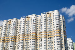 Facade of modern apartment buildings Stock Images