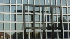 Facade of the modern building. Raster square facade of the modern building Royalty Free Stock Photography