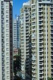 Facade of modern building. Sao Paulo city, Brazil. South America royalty free stock image