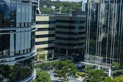 Facade of modern building. Sao Paulo city, Brazil. South America stock photography