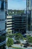 Facade of modern building. Sao Paulo city, Brazil. South America royalty free stock photos