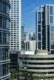 Facade of modern building. Sao Paulo city, Brazil. South America stock photo