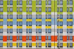 Facade of a modern building with street lantern Stock Photos