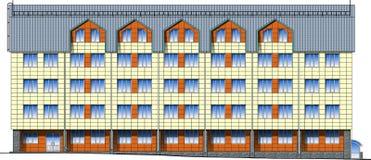 Facade of modern building in vector Stock Photo