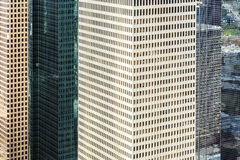 Facade of  modern buildings in downtown Houston Royalty Free Stock Image