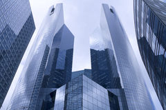 Facade of a modern bureau building Stock Images