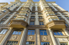 Facade of a modern multi-storey high-rise apartment building Royalty Free Stock Photos