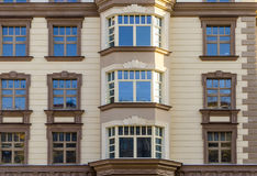 Facade of a modern multi-storey high-rise apartment building Royalty Free Stock Image