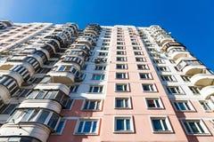 Facade of modern multi storey house Stock Photo