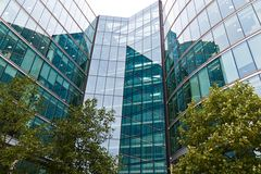 Facade of a modern office building london Royalty Free Stock Photography