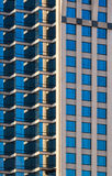Facade of Modern Office Building in Morning Sunlight. Closeup Royalty Free Stock Photo
