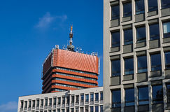 The facade of modern office buildings. In Poznan Royalty Free Stock Image