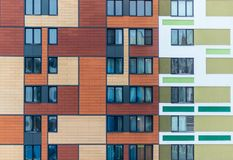 the facade of a modern residential complex. Moscow, Russia stock photos