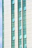 Facade of modern skyscraper. Close up image of modern skyscraper facade Royalty Free Stock Image