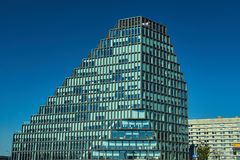 Facade of a modern skyscraper royalty free stock photography