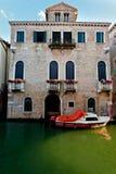 Facade modern Venetian Palazzo, Venice, Italy royalty free stock photography