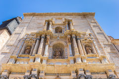 Facade of the monastery at the Plaza del Carmen in Valencia. Facade at the monastery at the Plaza del Carmen in Valencia, Spain Stock Photo