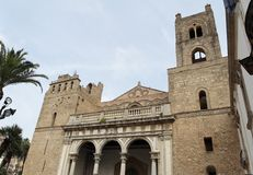 Facade of Monreale Cathedral Royalty Free Stock Image