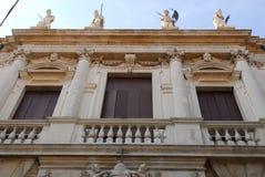 Facade of the Monte di Pietà palace in Padua in the Veneto (Italy) Stock Photos