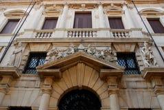 Facade of the Monte di Pietà palace in Padua in the Veneto Italy Stock Photos