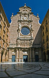 Facade of Montserrat cathedral Stock Image