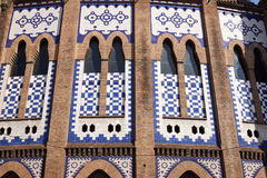 Facade of the Monumental bullring in Barcelona Stock Image
