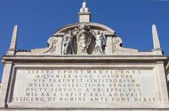 Facade of Moses fountain Royalty Free Stock Photos