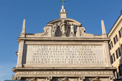 Facade of Moses fountain in Rome,. Italy Royalty Free Stock Photography