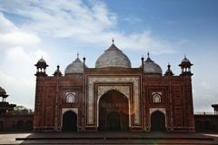 Facade of a mosque at Taj Mahal, Agra, Uttar Pradesh, India Royalty Free Stock Photography