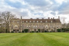 Facade of Mottisfont Abbey in Hampshire. Looking onto vast rolling lawn Royalty Free Stock Photos