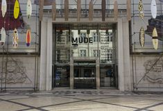 Facade of Mude Museum of Fashion and design Stock Photography