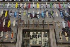 Facade of Mude Museum in Lisbon Stock Photos