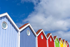 Facade, Multi Colored, Langeoog Island Royalty Free Stock Photography