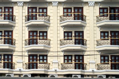 Facade of a multi-storey apartment building Royalty Free Stock Image