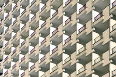 The facade of a multi-storey buildings. The facade of a multi-storey buildings photographed on a sunny day stock photos