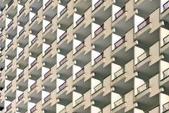 The facade of a multi-storey buildings. Stock Photos