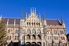 Facade of Munich city hall Royalty Free Stock Photography