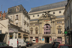Facade of the Municipal Theatre.  Tours. France Stock Photos
