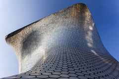 Facade of Museo Soumaya art museum in Mexico City - Mexico. Shiny facade of Museo Soumaya art museum in Mexico City - Mexico North America Royalty Free Stock Photography