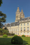 Facade of the Museum of Fine Arts.  Tours. France Stock Photo